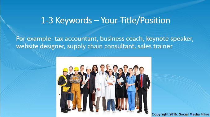 1.2 - LinkedIn Profile Keyword Optimization
