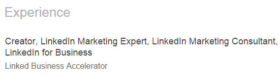 1.4 - LinkedIn Profile Optimization Experience