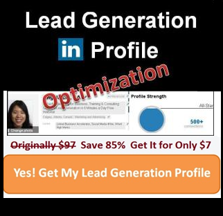 Lead Generation LinkedIn Profile Optimization - Blog